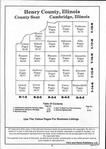 Table of Contents, Henry County 1993 Published by Farm and Home Publishers, LTD